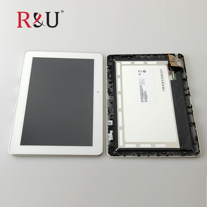 R&U B101EAN01.6 LCD display screen touch screen panel Digitizer Assembly with frame For ASUS Transformer Pad TF103 TF103CG K018  for asus transformer pad tf700 v0 1 black full lcd display monitor with digitizer touch panel screen glass assembly with frame
