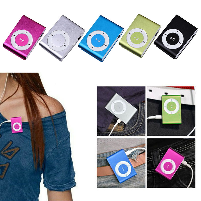 Metal Mini Mp3 With Clip Player Support Memory Card TF Card SD Card