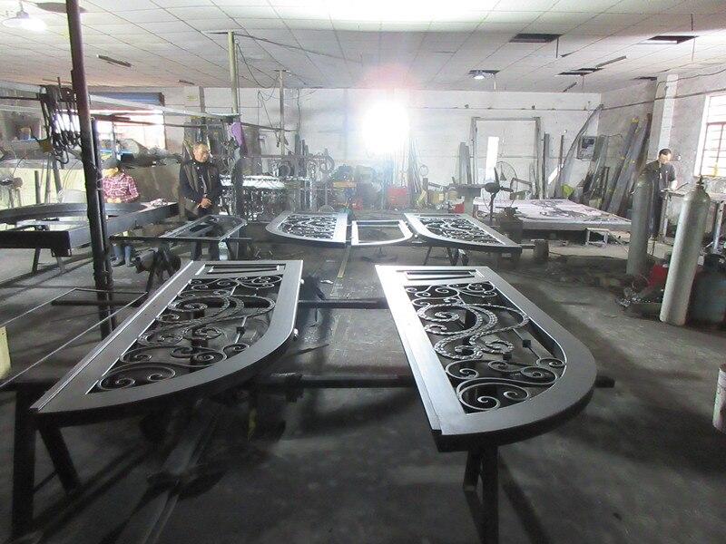 Custom made biggest jamb&door top quality wrought iron doors hench-id9