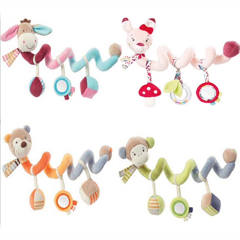 New Infant Colorful Soft Bed Stroller Toys Baby Crib Revolves Around The Playing Toy Cri ...