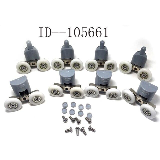 4 doppel und 4 doppelboden duschtr rollenluferrderriemenscheiben 25mm cy - Duschtur Rollen