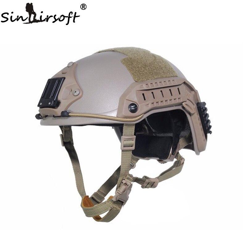 SINAIRSOFT NOUVEAU FMA Maritime Tactique Armée Casque Militaire ABS DE/BK/FG Pour Airsoft Paintball Casque Combat De Chasse USMC Tatical