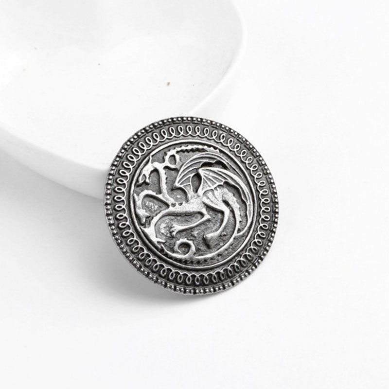 2018 Game of Thrones Brooch song of ice and fire vintage targaryen dragon  Pin brooch Unisex wholesal boys  clothes bag Brooches-in Brooches from  Jewelry ... 40effa883c42