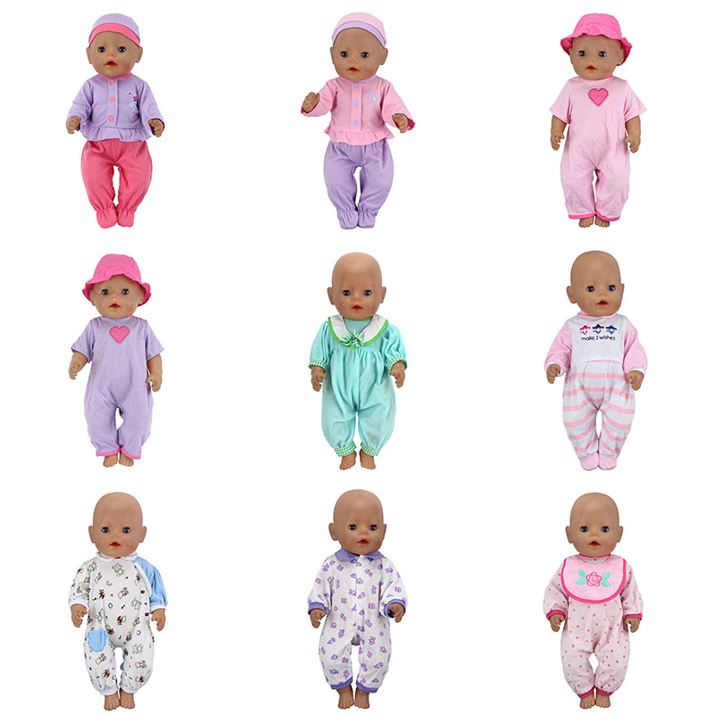 15 Style Doll clothes Wear fit 43cm Baby Born zapf, Children best Birthday Gift(only sell clothes) pink hat coat leggings doll clothes wear fit 43cm baby born zapf 18 american girl doll clothes children best birthday gift