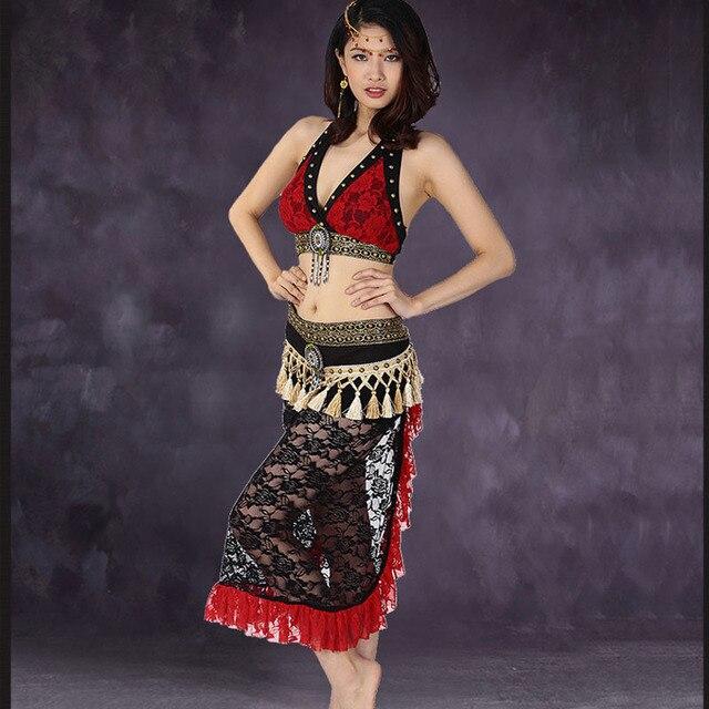 3ba797d3f wholesale belly dance 2018 Outfit Set bra+Scraf egypt gypsy ...