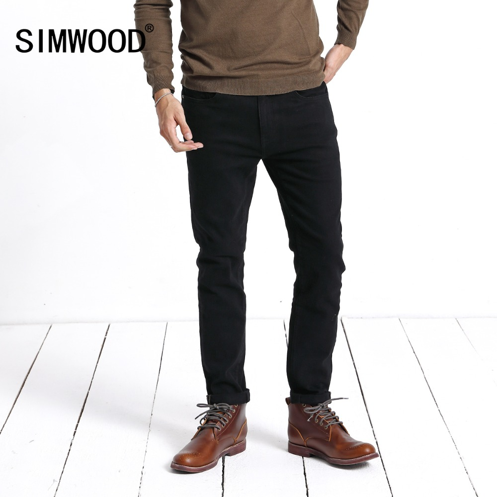 SIMWOOD New Men's   Jeans   2019 Hot Sale Fashion Denim Pants For Men Casual Slim Thick Brand   Jeans   Trousers Free Shipping 180609