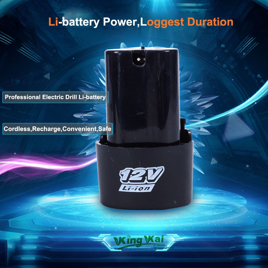 Powerful 12V Cordless Rechargeable Lithium Battery For Electric Drill Screwdriver Power Tool Extra Lithium Battery