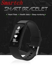 Smartch 2017 умный Браслет Presión arterial крови кислородом сердечной Мониторы Фитнес трекер спортивные часы браслет для Android IO