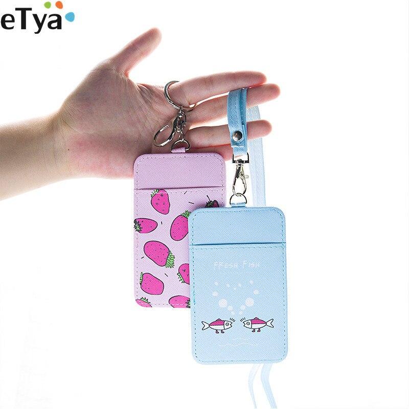 Korean Cartoon Cute Credit Card Holder Bag for Women Student Bus Card Bank ID Badge Name Business Neck Card Bag
