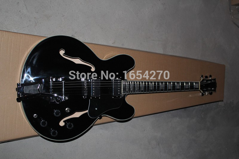Free Shipping  High Quality G Custom ES335 Jazz Guitar Semi Hollow Black Electric Guitar In Stock    151112Free Shipping  High Quality G Custom ES335 Jazz Guitar Semi Hollow Black Electric Guitar In Stock    151112