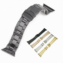 For Apple Watch Iwatch Stainless Steel Metal Watch Strap for Apple Watch 38mm 42mm 40mm 44mm Sport Edition WatchBand +Tools hoco 42mm watchband steel stainless metal strap classic buckle adapter watch bands for apple watch