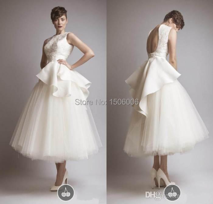 Compare Prices on Designer Tea Length Wedding Dress- Online ...