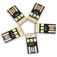 5PCS USB LED Mini Flashlight 0.2W 3 x SMD 2835 22Lm for Laptop PC Power Bank white lights