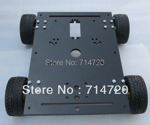 Envío gratis carga máxima 15 KG chasis robot 4WD chasis elegantes del coche con 4 dc metal motor