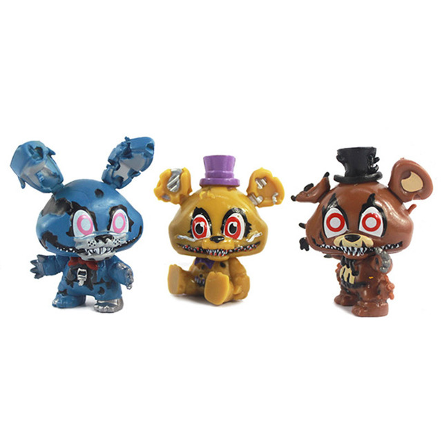 New 8pcs/set 5cm Anime Five Nights At Freddys Vinyl Doll Nendoroid Mini Figures Toys for Kids Collectible Model Gifts In Opp Bag 1