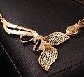 BAUS Diseño Plateado Oro de La Joyería Collar Pulsera Pendientes Anillo set de Joyas Mujeres Fiesta etíope dubai joyas de oro set