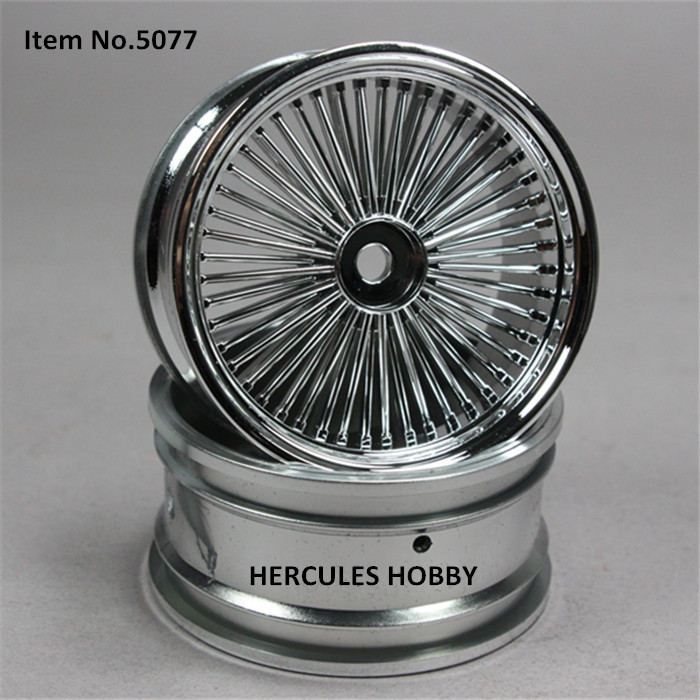 4pcs Plastic Wheels Rims For Rc Drift Touring On Road Car 110 In