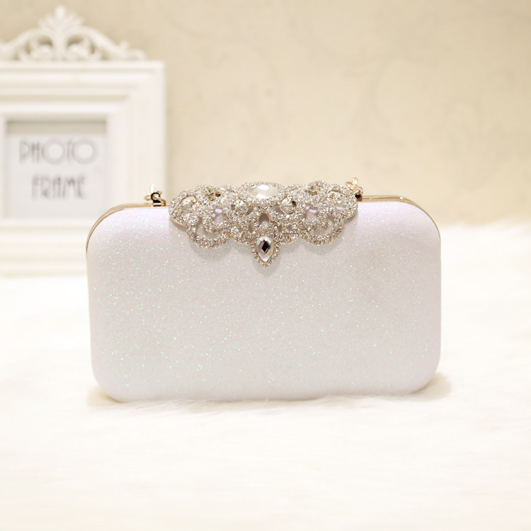 Angelatracy 2019 New Arrival Easy Diamond Matching Banquet Feast Chain Dinner Party Evening Bag Minaudiere Messenger Bags Flap in Top Handle Bags from Luggage Bags