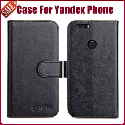 Luxury Flip Leather Case for Yandex smartphone Case 100% Special Wallet Cover Funda Card Holder Mobile Phone Bag Pakistan