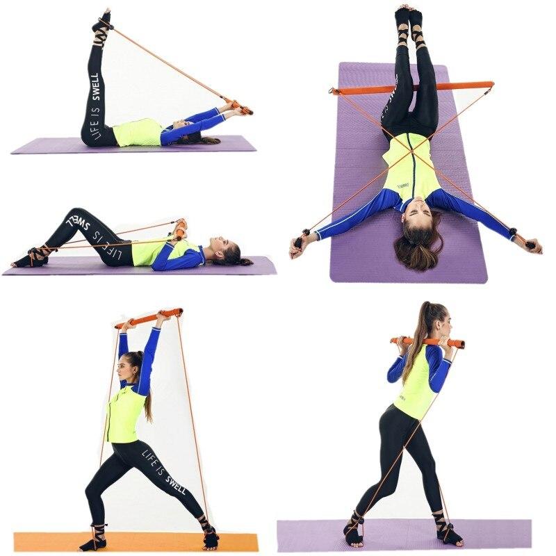 Portable maison Fitness extenseur extracteur exercice traction ligne Yoga flexibilité musculation câble corde Tube résistance bandes