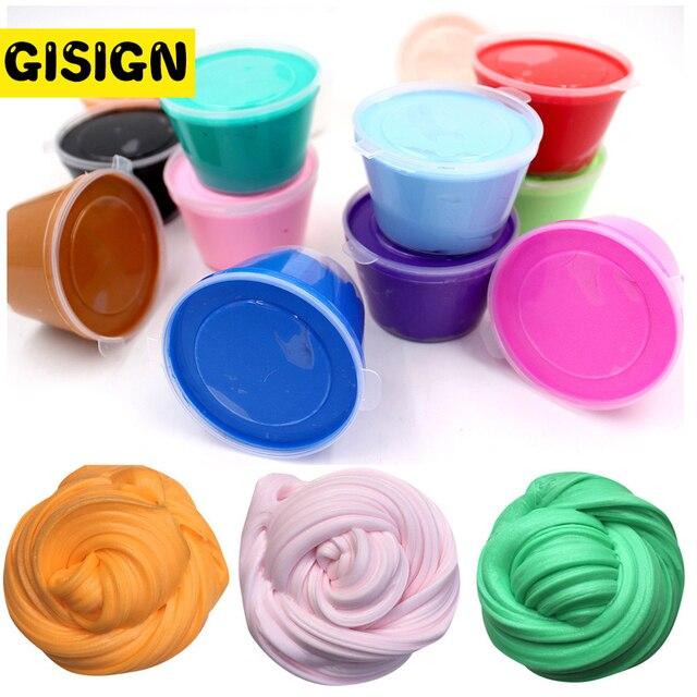 Caixa de Manteiga 1 Floam Slime Slime Argila DIY Fofo Macio Suprimentos Antistress Ofício Educação Areia Mágica Plasticina Brinquedo Kit