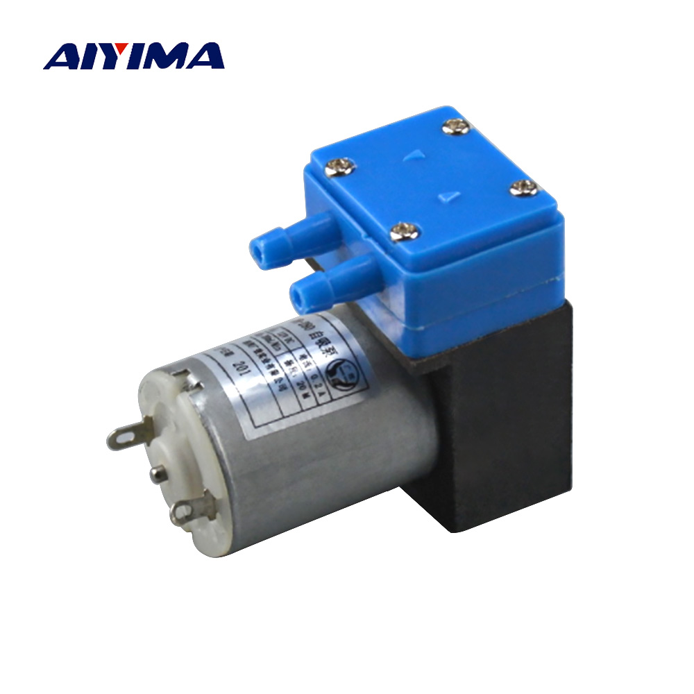 Aiyima DC 12V Micro Water Pump 2.5W Motor Brushless Ink Pump Diaphragm Pumps Low Noise Self-priming For Printing ink supply 2 din 7 inch car dvd player for skoda octavia fabia rapid yeti superb vw seat with wifi radio fm gps navigation free map