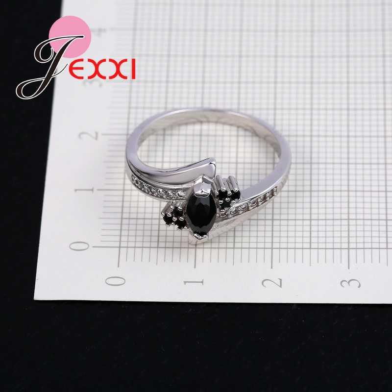 Dernière 925 100% pur argent Sterling cristal meilleurs cadeaux femmes filles anneaux de mariage avec des bijoux de mode de fête de Style brillant