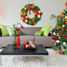 Decoration Xmas Party 30CM Hanging Pendant Craft Christmas Tree Handmade Christmas Wreath Green Door Window Garland Home