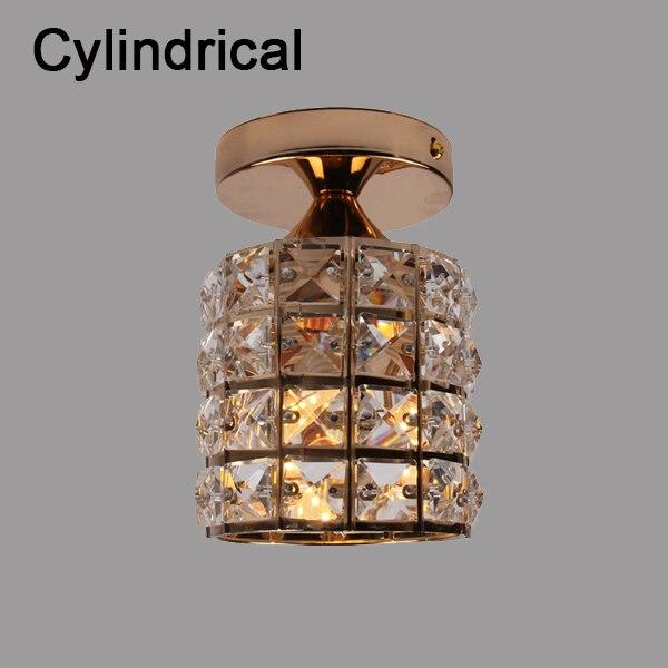 Современный золотой E27 квадратный и цилиндрический потолочный светильник для внутренней спальни гостиной Кабинета ванной комнаты - Цвет корпуса: Cylindrical No Bulb