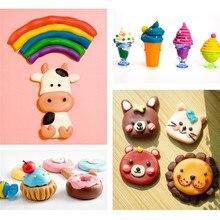 Non toxic Children Educational Toy Wheatmeal Play Dough Plasticine Set Kids Doughy Plasticine Tool Molds