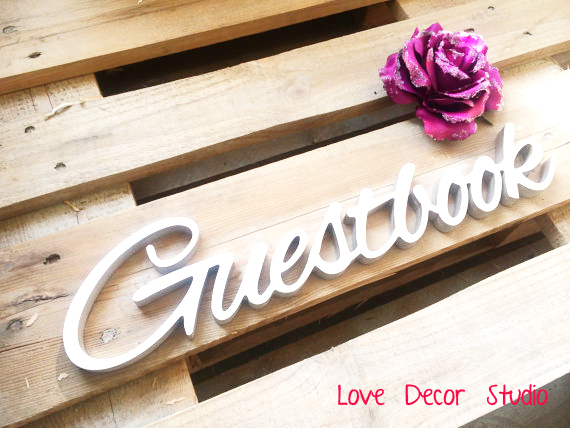 free shipping freestanding wedding sign Guestbook Party sign Guestbook.tall 4