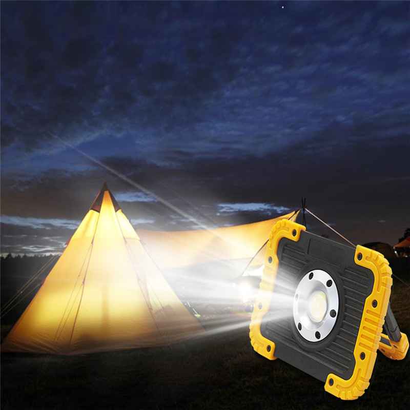 10W COB LED Rechargeable Work Light Floodlight Emergency Power Bank Flashlight Camping Spotlight Searchlight Hunting Lantern pair of retro rhinestone faux pearl petal shape earrings for women