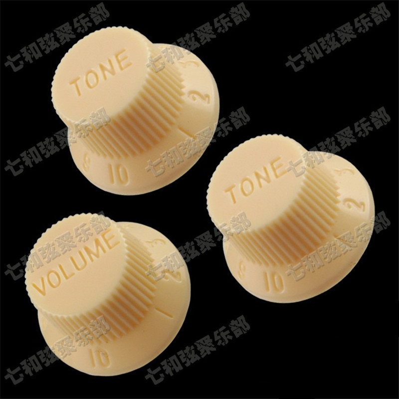 Free shipping 10 sets Cream Guitar Speed Control Knobs for Electric Guitar