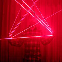 Red Laser Gloves With 4pcs 650nm Laser,Disco LED laser Gloves,For DJ Club Party Show