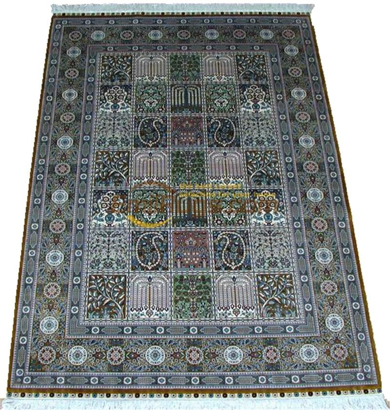 Laine ou soie persan fait main Crochet tissu d'ameublement maison pour salon laine tricot tapis Antique tapis - 3