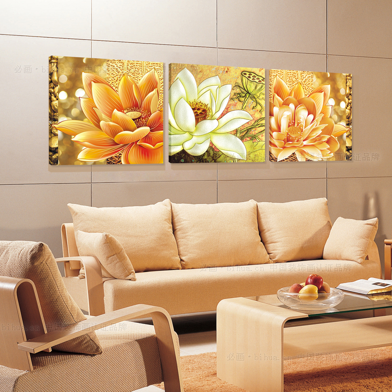 Large Wall Pictures For Living Room: Artryst New Sale Cuadros Paintings 3 Pieces Canvas