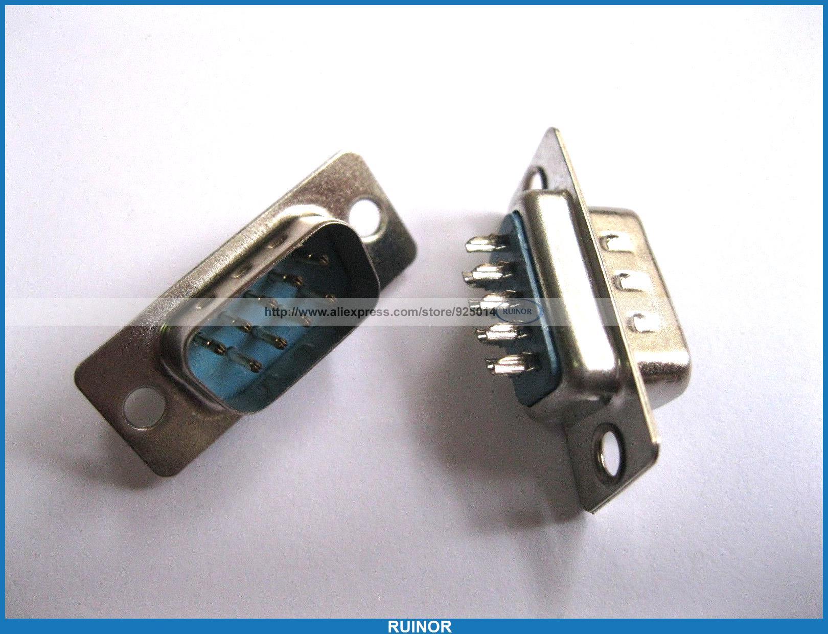 120 Pcs sub-d 9 pino mâle à souder connecteur pour PC utilisation