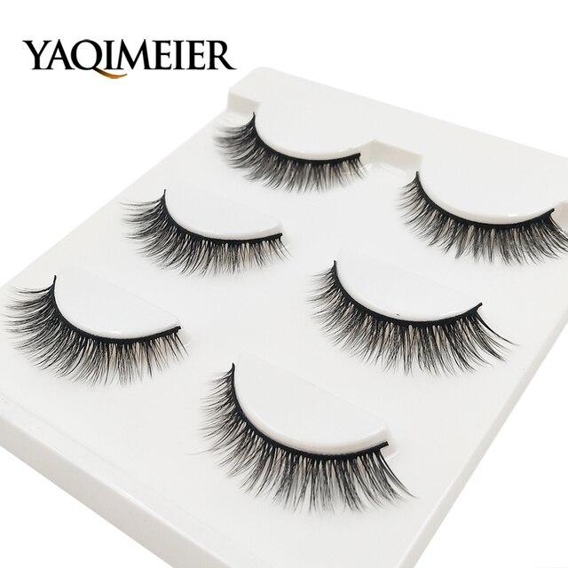 Yaqimeier Natural Long Winged False Lashes Private Label Korean