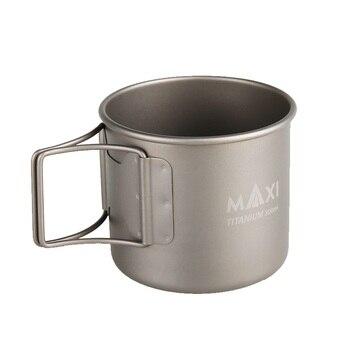 Maxi de titanio taza Camping al aire libre plegable ligero agua café té  taza 300 ml 1ab81ddc47a