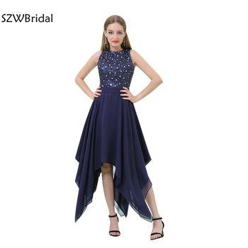 8b34a9322 Nueva llegada vestido de fiesta curto cordón Chiffon Vestido de baile de  graduación 2019 vestido de festa longo vestidos de baile Vestidos cortos