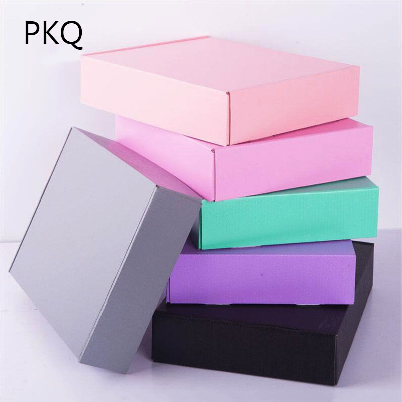 Gift Bags & Wrapping Supplies Pink/black Gray Craft Paper Gift Boxes Event & Party Adroit 20pcs/lot Large Size Kraft Paper Gift Packaging Box,craft Cardboard Wedding Gift Box