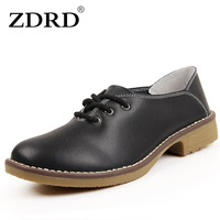 2016 New Arrival Fashion Women Flats Shoes Top Quality Genuine Leather Women Shoes Solid Black Office