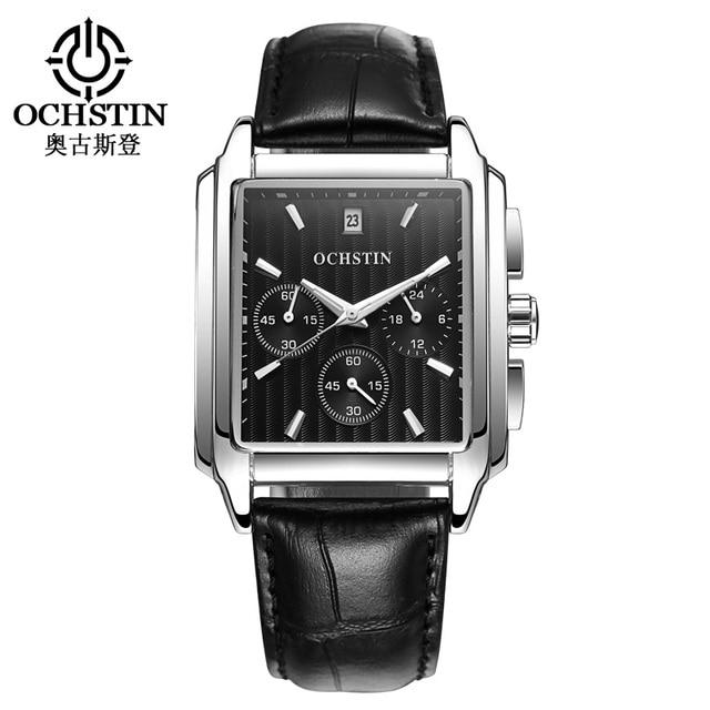 4db475a7368 2017 Marca de Luxo OCHSTIN Homens Quartzo Relógio Analógico Pulseira de  Couro Relógio Militar Do Exército