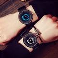 Coréia Criativo Stylish Man Quartz Watch Projeto Original Rotação Relógio Estudante Da Escola de Moda Casual Relógios Esporte
