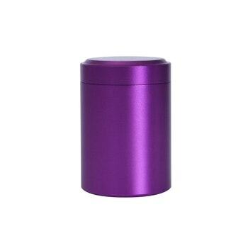 Портативная мини-банка для чая, алюминиевая банка для хранения травы, герметичный контейнер для запаха, органайзер для специй, горшок для хранения E2S