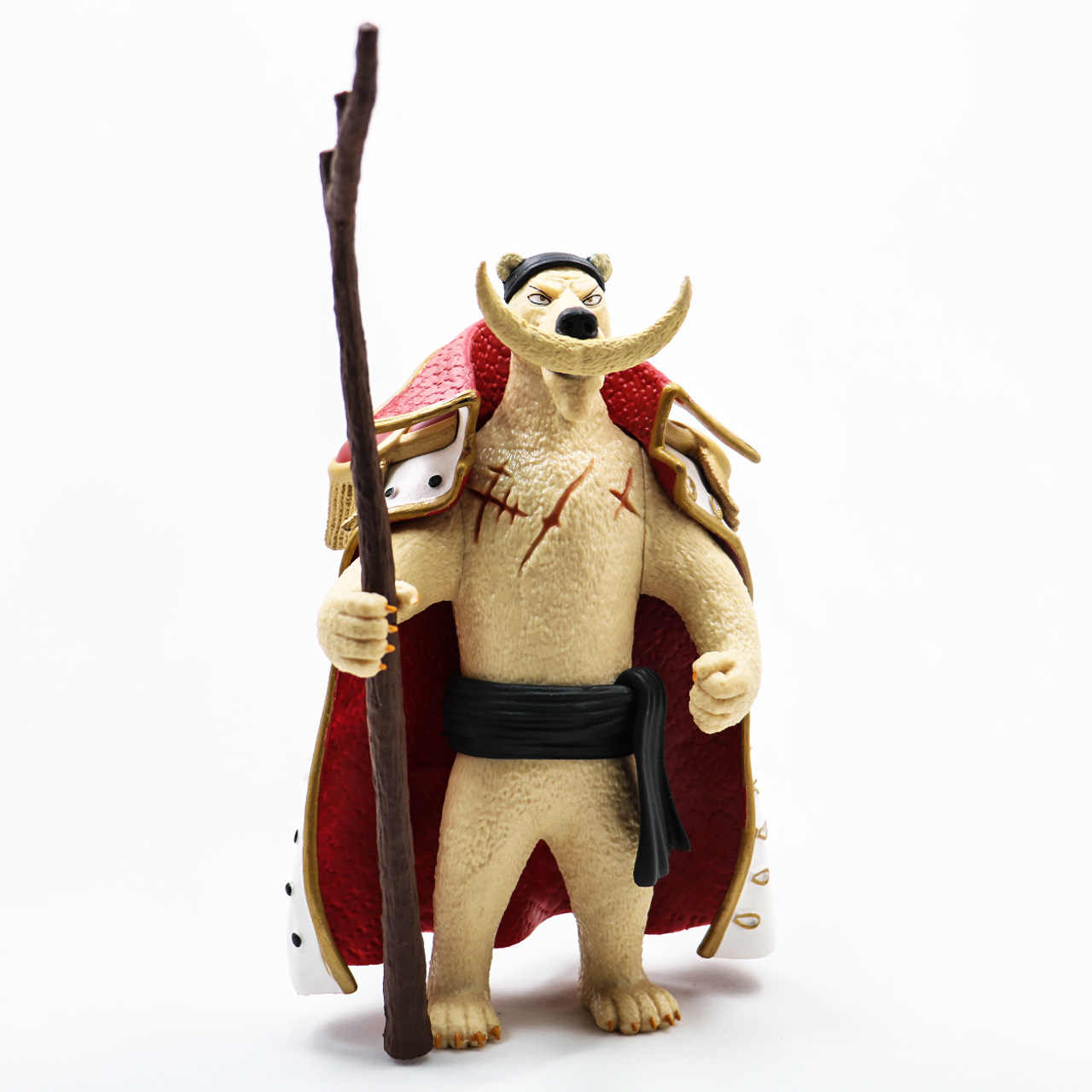 Anime One Piece Edward Newgate como Urso Polar Animal PVC Modelo Figura Toys 14 cm