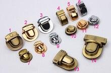 Purse Twist Turn Lock Silver Tone Coin Purse Bag Clasps,Luggage lock,bags duck tongue lock,DIY screw buckle lock accessories