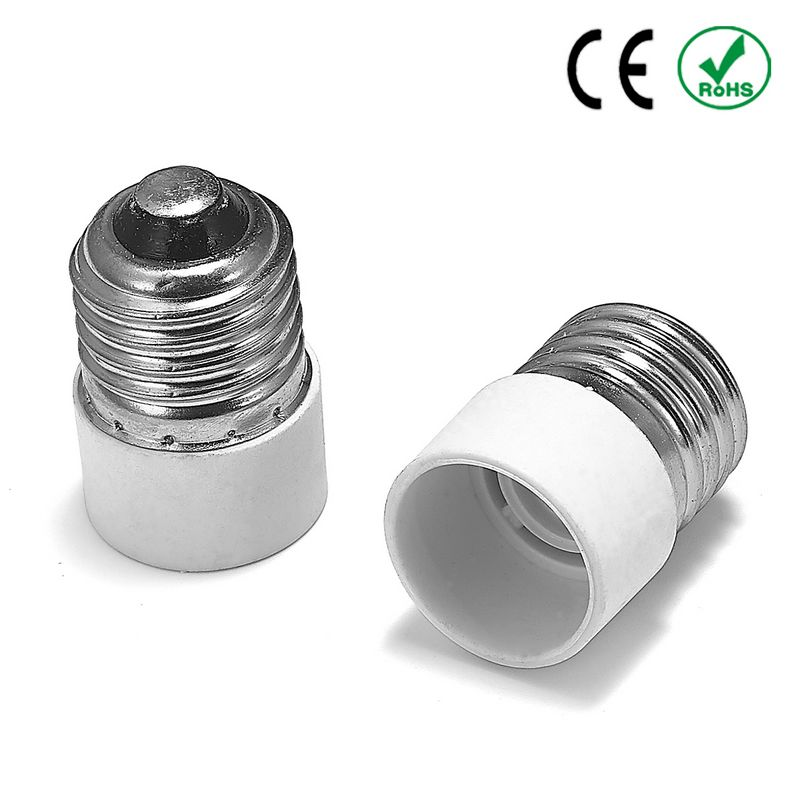 100pcs E27 to E14 Adapter E26 to E14 Lamp Holder Converter Power Adapter Base Socket LED