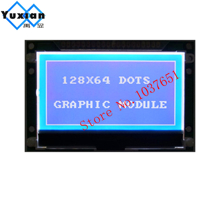 1PCS COG 5V 12864 Graphic lcd display blue parallel serial SPI ST7565P <font><b>LG12864U</b></font> industrial lcd display Wide temperature image