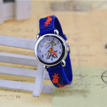Cartoon Characters 3D Children Watch Rubber Strap Fashion Kids Quartz Wristwatch Casual Sports Clock for Boys Students Xmas Gift
